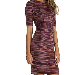 Trina Turk Ponte Jacquard dress in Wineberry